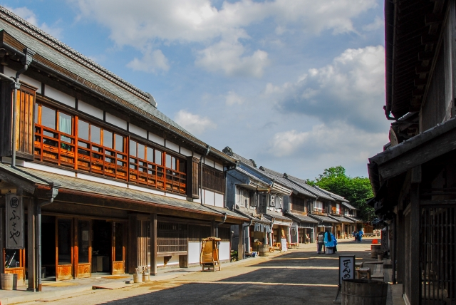 江戸時代の町並み